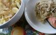 玉ねぎのオイル漬けをつかったお料理 サケを蒸して