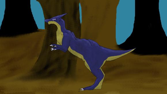 暗い森に住む小型竜