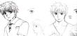鮫島くんのおっぱいキャラクター設定画