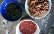 昆布(佃煮)、おかか、いちごソース
