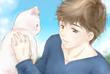 オカン猫ちゃんとヒビキ君(ひるね様へ)
