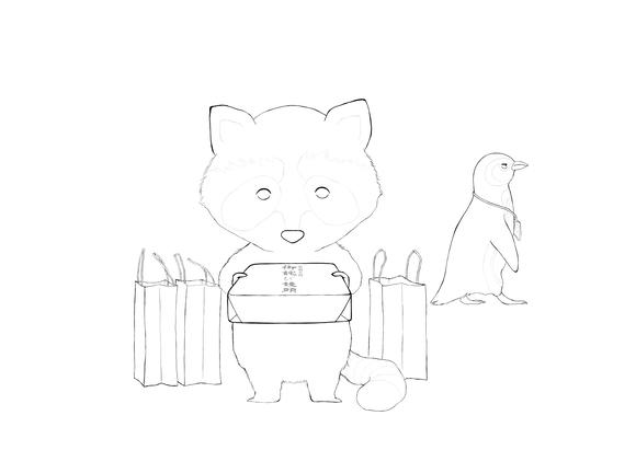 【塗り絵企画Ⅳ】線画「スズキさんとアンドリュー」