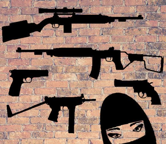 銃器イメージ_シルエット