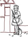 【線画×彩色】メイドさんラフ