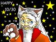 ハロウィン記念絵。猫耳ダンブルドア(笑)