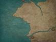 大陸西端部地図