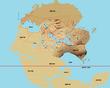 パングリア大陸地図