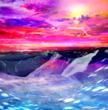 雪山の稜線