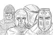 モブ騎士四人組