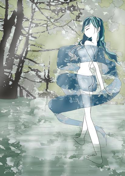 湖水の天女