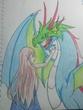 童話挿し絵「魔女に恋した竜」