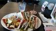前橋文学館のカフェで昼食