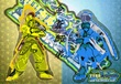 リリカルBASARA 宣伝イラスト 『金蒼師弟』
