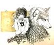 【イラスト】オオカミと赤ずきんちゃん