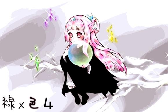 【塗り絵企画Ⅳ】線画 #2「精霊」(Saikaさん)