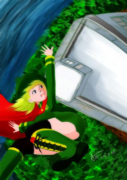 「異世界の姫さまが空から降ってきたとき」イメージ画