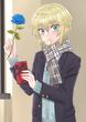 バレンタインのお返しには青薔薇とホワイトチョコレートを。