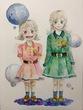 「ポータルズ」挿絵ナルとメル、点ちゃん