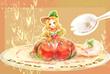 【線×色Ⅲ】ケーキ(線画:まうす様)