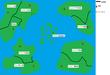 惑星ティルナ世界地図
