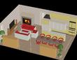 第3章・第02話挿絵用 拠点建物2階のリビング