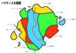 パラディス大陸図