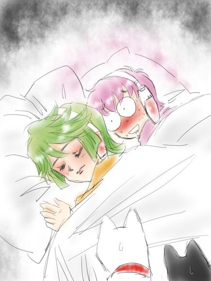 ロボ子さん、神無さんと眠る。
