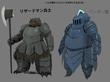 ペンギン鎧とリザードマン兵士