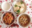 給食メニュー ピラフと鶏のスパイス焼き
