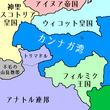 カンナガ湾周辺地図