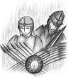 聖女ミリト&聖騎士レイヴン