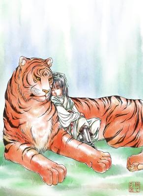 【線×色Ⅱ】午睡(おうち穂里さまの線画)