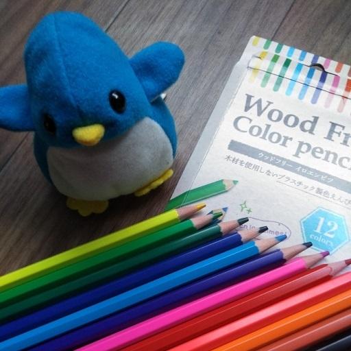 色鉛筆とアデリー
