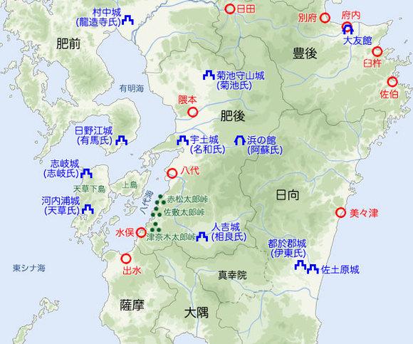 九州中部図