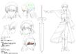 『漆黒の葬討者』 雪姫 キャラクターデザイン
