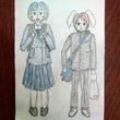 アデリーとブルーナの学生服