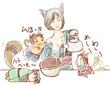 【コラボ侍】彼女の昼食
