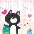 黒猫さんとにゃんこちゃん