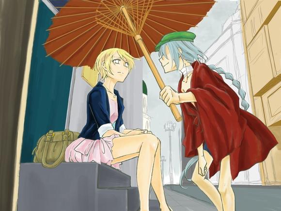 A rainy day 色塗り3