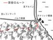 中林さんの天球儀、第四部第八章の地図