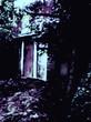 夜の廃屋。
