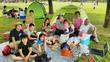 家族13人でピクニック