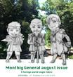 月間ジェネラル8月号カレンダー風味ラフスケッチ。