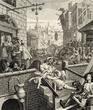 ウィリアム・ホガース 『ビール街とジン横丁』より