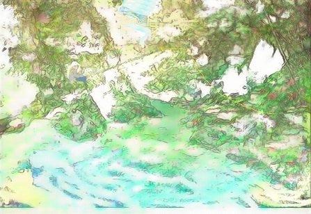萩尾滋さんから 木漏れ日のルアー へ