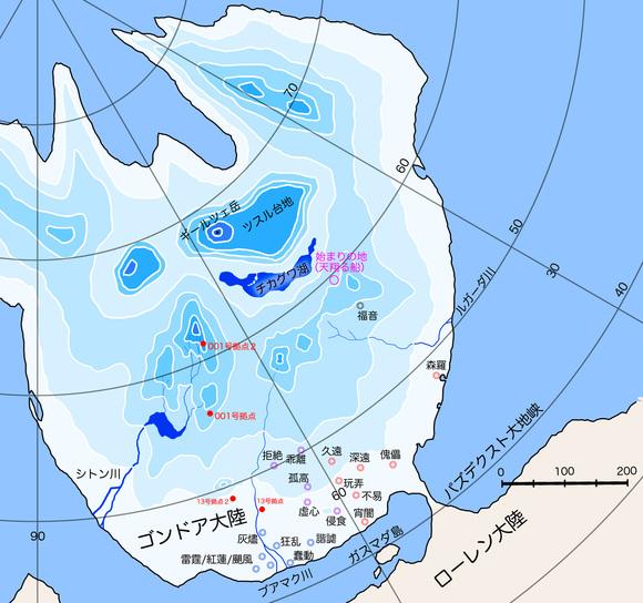 マギクラフト・マイスター関連地図