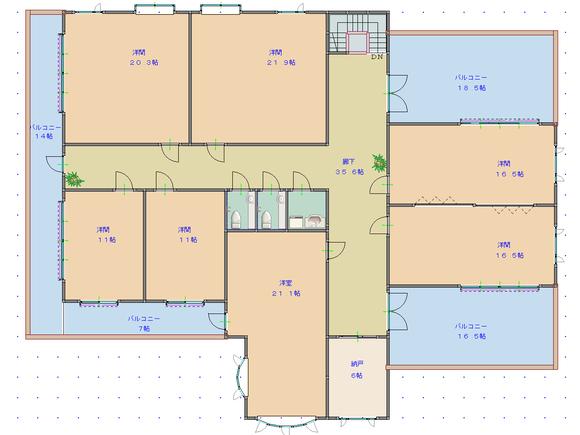遺跡上に建てた拠点施設・3階間取り図(完成版)