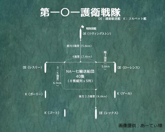 第101護衛戦隊 配置図