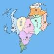 すずめの親玉様に描いていただいたアンデシュダール大陸地図
