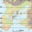 セト中海世界 緯度経度 日本地図との比較